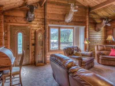 Immaculate mountain log home, recently remodeled for sale in Cuchara, Colorado